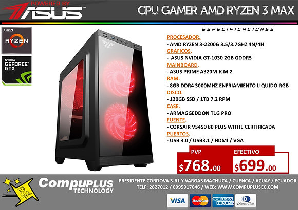 RYZEN 3G / POWERED BY ASUS