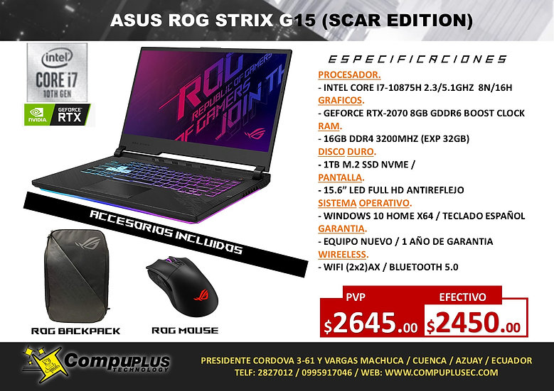 ASUS ROG STRIX G15 (SCAR EDITION)