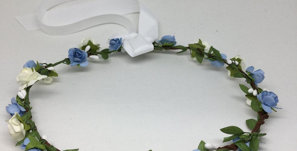 White & Blue Paper Rosettes