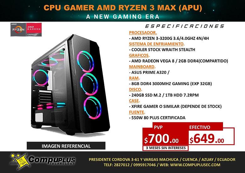 CPU GAMER AMD RYZEN 3 MAX (APU)