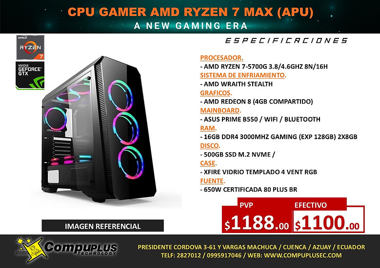 CPU GAMER AMD RYZEN 7 MAX (APU)
