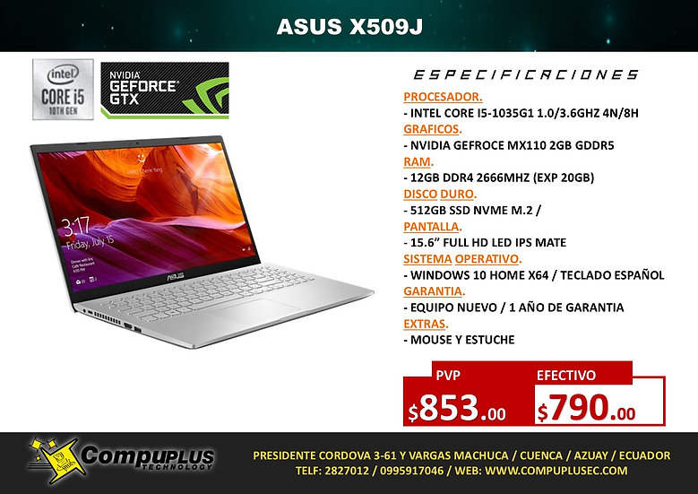 ASUS VIVOBOOK X509J (INTEL)