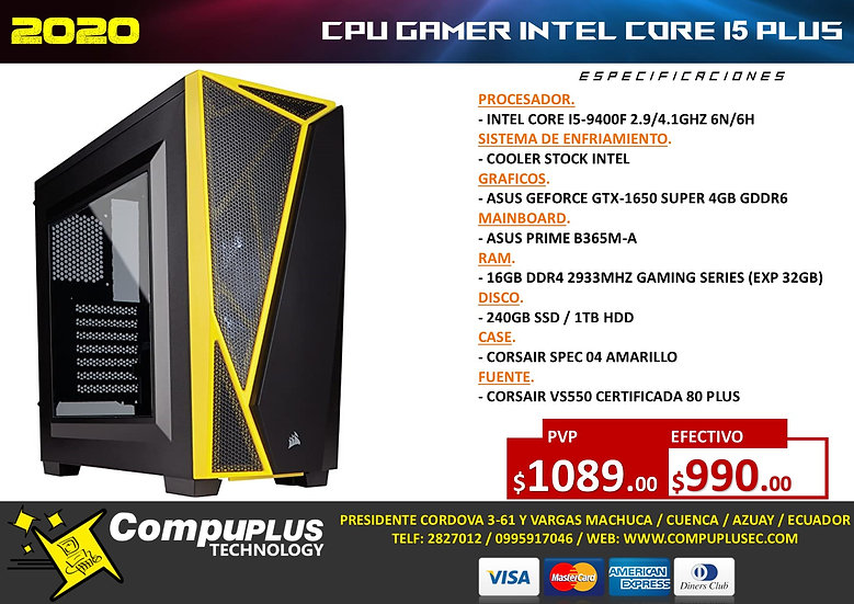 CPU GAMER INTEL I5 MAX+