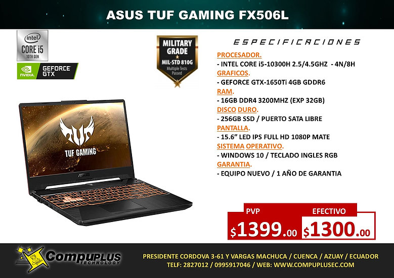 ASUS TUF GAMING FX506L (INTEL)