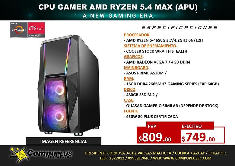 CPU AMD GAMER RYZEN 5.4 (APU)