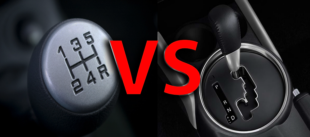 Manual transmission versus automatic transmission