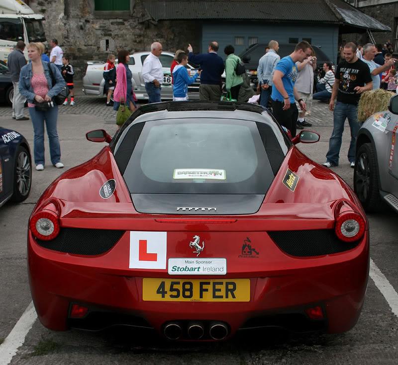 learner driver in Ferrari 458 italia