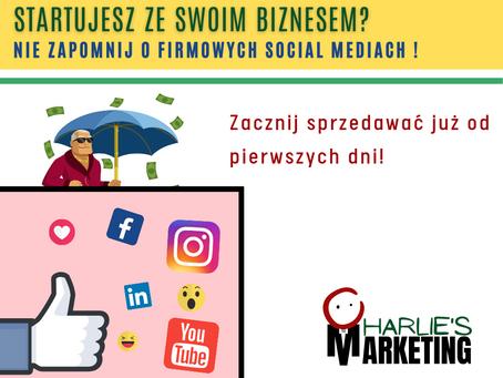 Startujesz ze swoim biznesem? Nie zapomnij o Social Mediach i zacznij sprzedawać już od początku!