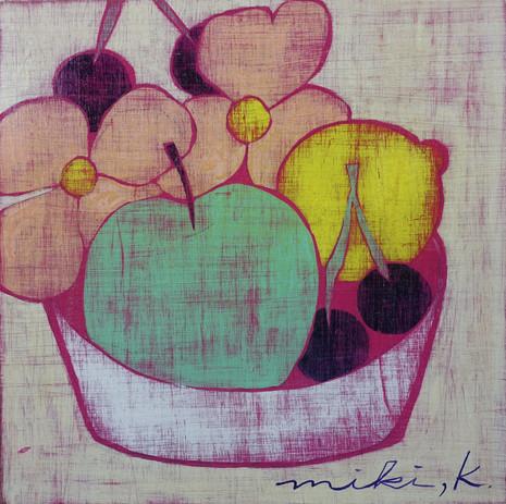 花と、果物