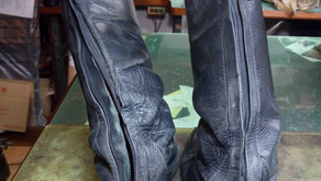 乗馬靴:修理例1(ビフォーアフター)