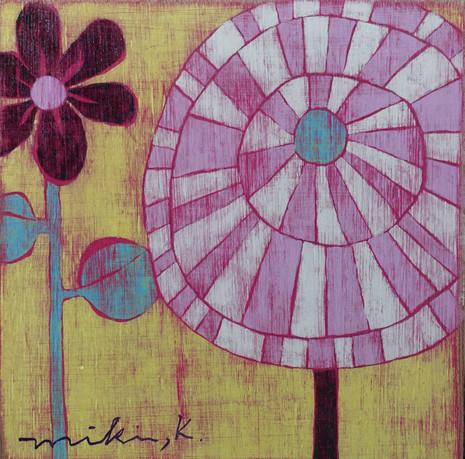 上にのびる花Ⅱ