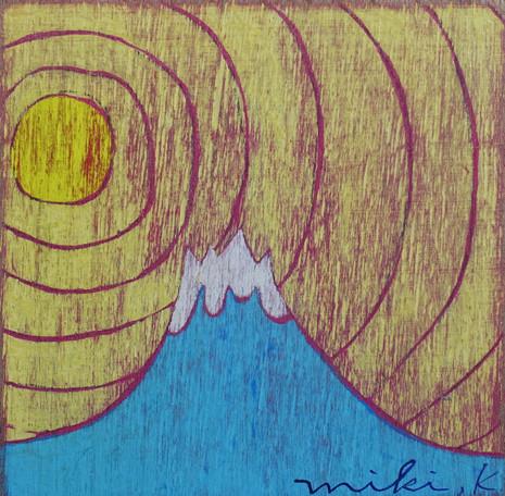 富士山と太陽