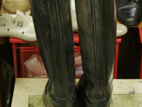 乗馬靴:修理例2(ビフォーアフター)