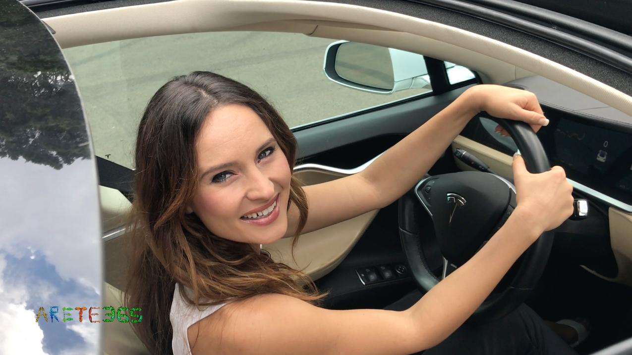Anna Maria smile, Tesla Commercial