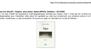 "Articles sur ""Fulgure"" et ""Enfoui"" / French articles on ""Fulgure"" and"