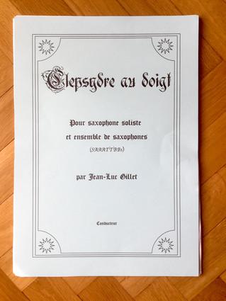 "Création de ""Clepsydre Au Doigt"" / Upcoming premiere of ""Clepsydre Au Doigt"""