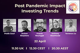 Post-Pandemic Impact Investment Landscape and Trends Roundtable - 22nd April 2021