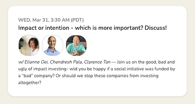Impact or Intention - Which is more important? Join us on a Clubhouse discussion on 31st Mar 2021