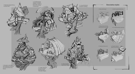 Tree village prop thumbnails