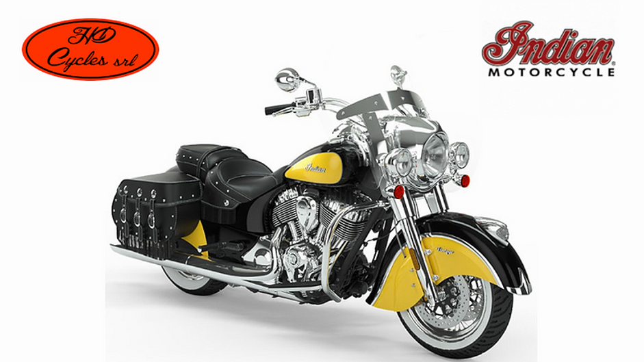Indian Vintage Icon Thunder Black and Yellow