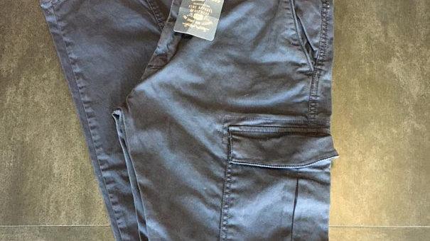 Pantaloni cargo blu navy