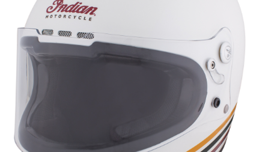 Casco Indian Full Face bianco
