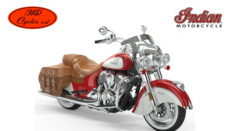 Indian Chief Vintage Icon Patriot red Pearl White