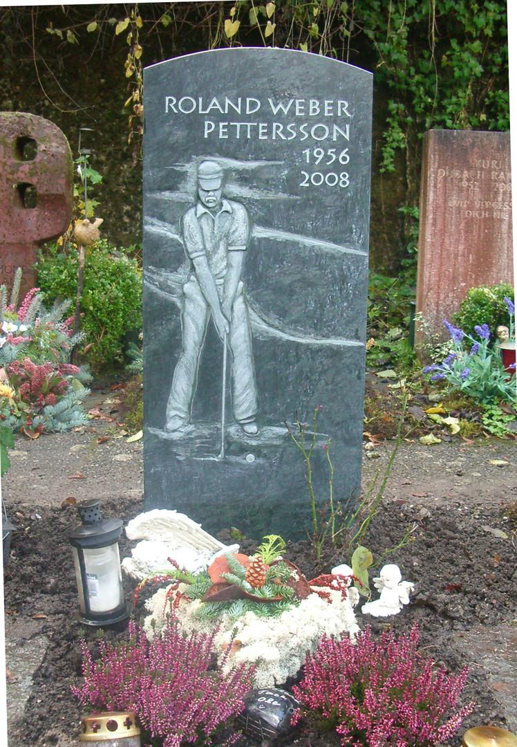 Golfspieler Grabdenkmal