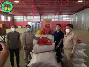 ขอขอบคุณ เจ๊ติ๋มลูกชาวนา บริจาคถุงยังชีพแก่ผู้กักตัวโควิด-19 จำนวน 150 ชุด ณ ศูนย์พักคอยตำบลดงมะรุม