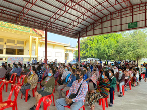 อบต.ดงมะรุม จัดประชุมประชาคมการจัดตั้งฟาร์มเลี้ยงสุกร
