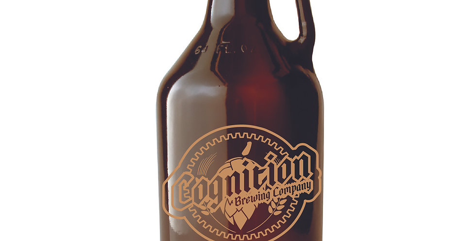 64 oz Amber Beer Growler