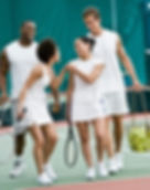 Small group tennis lessons