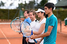 Large group tennis lessons