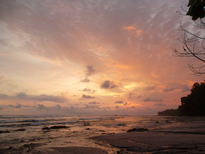 Sunset in Cabo Blanco Reserve