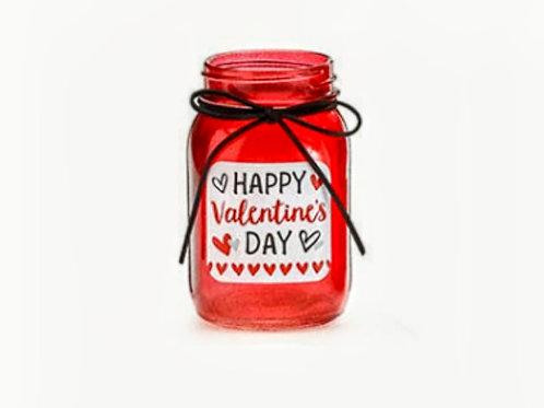 Valentine's day mason jar bouquet