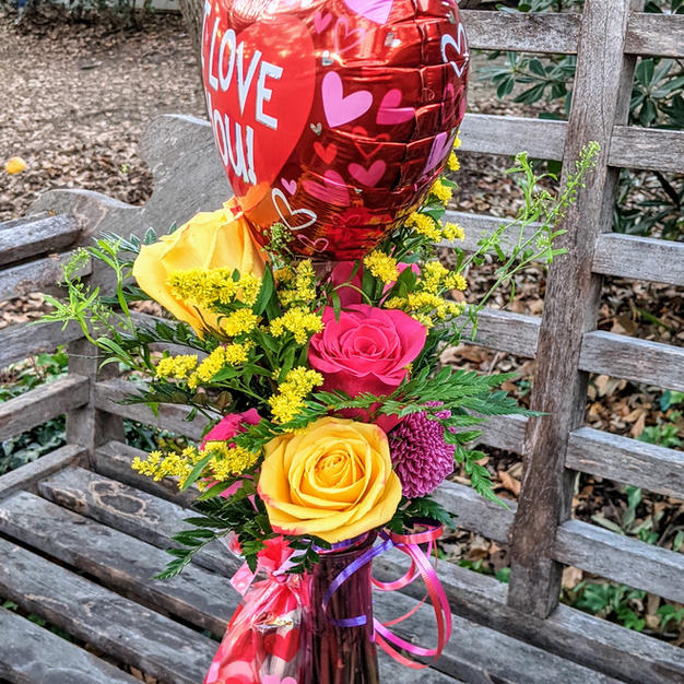 A fun Valentines day bouquet