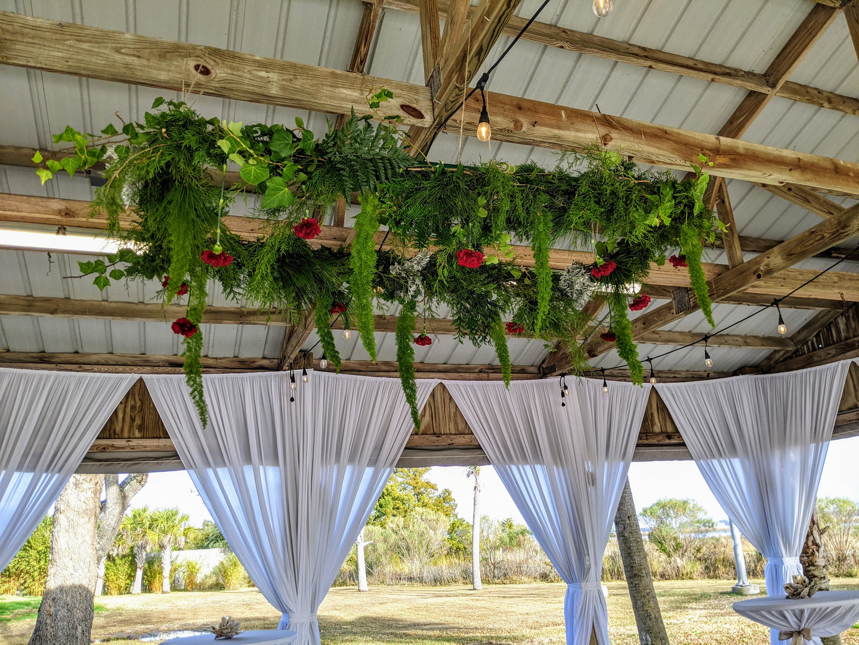 Large floral chandelier