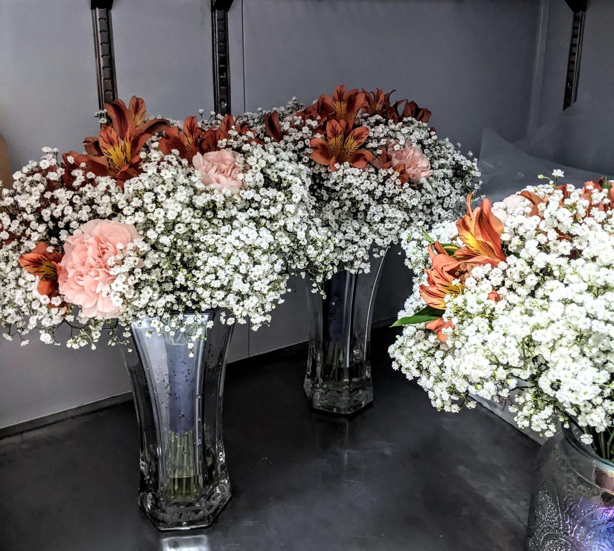 Baby's breath bridesmaids bouquet's