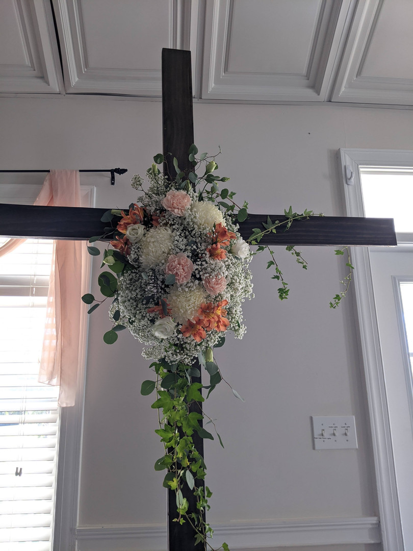 Floral attachment for cross