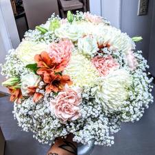 A whole lotta baby's breath bouquet!