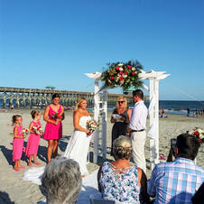Beach wedding at the Tides Folly beach