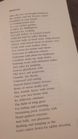'duntroom': poem by Mary Pargeter