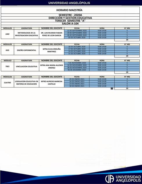 3° Dirección y Gestión Educativa