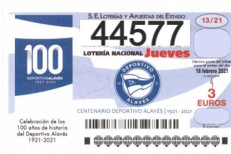 SORTEO 13/21 Nº44577