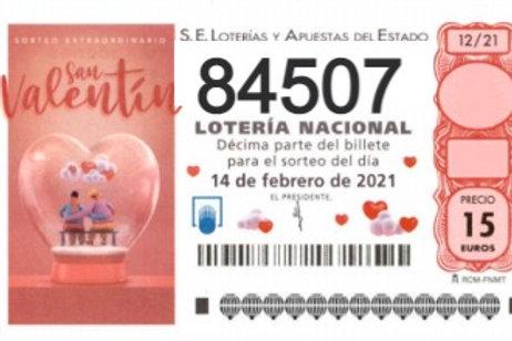 SORTEO 12/21 Nº84507
