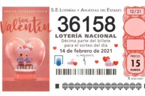 SORTEO 12/21 Nº36158