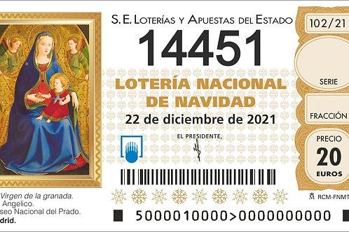 SORTEO 102/21 Nº14451
