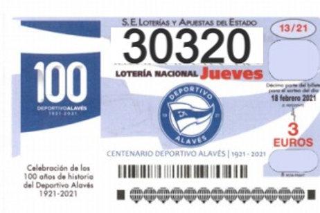 SORTEO 13/21 Nº30320