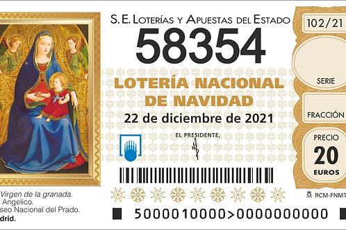 SORTEO 102/21 Nº58354