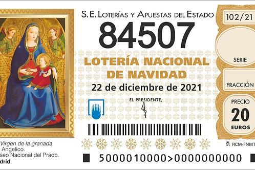 SORTEO 102/21 Nº84507